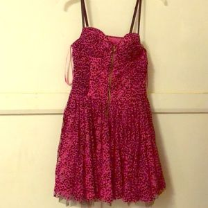 Betsy Johnson pink mesh tulle dress